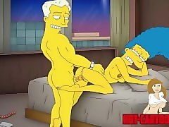 cartoon porn simpsons porn mom marge have fun
